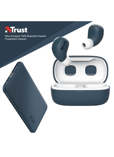 Trust Trust Nika Compact Mavi Bluetooth Kulak ıçi Kulaklık Powerbank Hediyeli Renkli